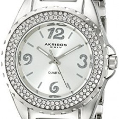 Akribos XXIV Women's AK514WT Silver-Tone Watch | 100% original, import SUA, 10 zile lucratoare af22508 - Ceas dama Akribos, Casual, Quartz, Analog