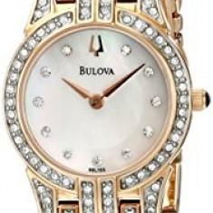 Bulova Women's 98L155 Crystal Round Watch | 100% original, import SUA, 10 zile lucratoare af22508 - Ceas dama Bulova, Analog
