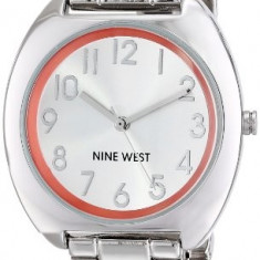 Nine West Women's NW 1569ORSB Silver-Tone | 100% original, import SUA, 10 zile lucratoare af22508 - Ceas dama Nine West, Analog