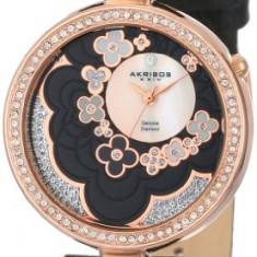 Akribos XXIV Women's AK601BK Lady Diamond | 100% original, import SUA, 10 zile lucratoare af22508 - Ceas dama Akribos, Casual, Quartz, Analog