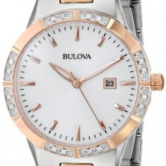 Bulova Women's 98R169 Two-Tone Watch with   100% original, import SUA, 10 zile lucratoare af22508 - Ceas dama Bulova, Analog