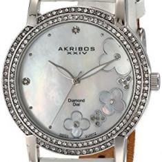 Akribos XXIV Women's AK580SSW Lady Diamond | 100% original, import SUA, 10 zile lucratoare af22508, Casual, Quartz, Analog