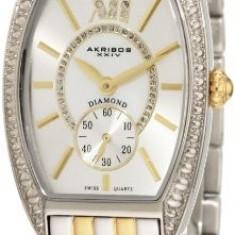 Akribos XXIV Women's AKR470TT Diamond Swiss | 100% original, import SUA, 10 zile lucratoare af22508 - Ceas dama Akribos, Casual, Quartz, Analog