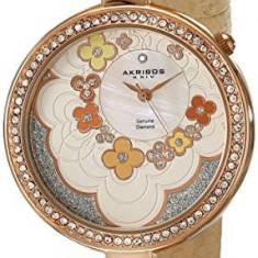 Akribos XXIV Women's AK601RG Lady Diamond | 100% original, import SUA, 10 zile lucratoare af22508 - Ceas dama Akribos, Casual, Quartz, Analog