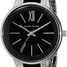 Anne Klein Women's AK 1413BKSV Silver-Tone | 100% original, import SUA, 10 zile lucratoare af22508 - Ceas dama Anne Klein, Analog