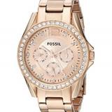 Fossil Women's ES2811 Riley Rose Gold-Tone | 100% original, import SUA, 10 zile lucratoare af22508 - Ceas dama Fossil, Analog