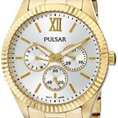 Pulsar Women's PP6140 Business Collection Gold-Tone | 100% original, import SUA, 10 zile lucratoare af22508 - Ceas dama Pulsar, Elegant, Quartz, Analog