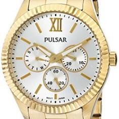 Pulsar Women's PP6140 Business Collection Gold-Tone | 100% original, import SUA, 10 zile lucratoare af22508 - Ceas dama Pulsar, Analog