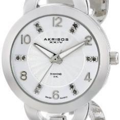 Akribos XXIV Women's AK699SS Lady Diamond | 100% original, import SUA, 10 zile lucratoare af22508 - Ceas dama Akribos, Casual, Quartz, Analog