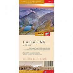 Schubert & Franzke Set Harti Harta Muntii Nostri Harta Muntilor - Fagaras MN07 - Harta Turistica