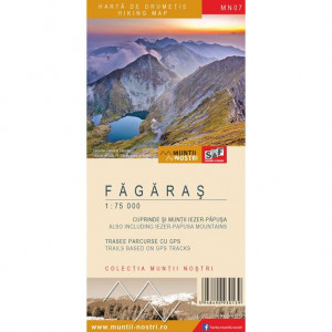 Schubert & Franzke Set Harti Harta Muntii Nostri Harta Muntilor - Fagaras MN07