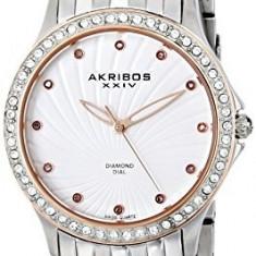Akribos XXIV Women's AK620SS Lady Diamond | 100% original, import SUA, 10 zile lucratoare af22508 - Ceas dama Akribos, Casual, Quartz, Analog
