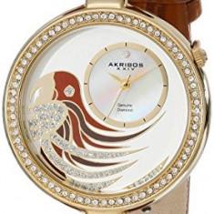 Akribos XXIV Women's AK602BR Lady Diamond | 100% original, import SUA, 10 zile lucratoare af22508, Casual, Quartz, Analog