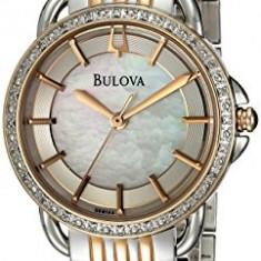 Bulova Women's 98R144 Diamond Rose and | 100% original, import SUA, 10 zile lucratoare af22508 - Ceas dama Bulova, Analog