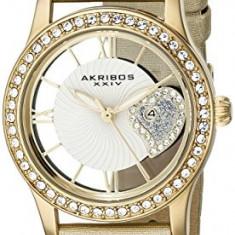 Akribos XXIV Women's AK811YG Swarovski Crystal-Accented | 100% original, import SUA, 10 zile lucratoare af22508 - Ceas dama Akribos, Casual, Quartz, Analog