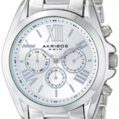 Akribos XXIV Women's AK693SS Ultimate Swiss | 100% original, import SUA, 10 zile lucratoare af22508, Casual, Quartz, Analog