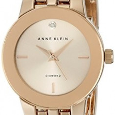 Anne Klein Women's AK 1930RGRG Diamond-Accented | 100% original, import SUA, 10 zile lucratoare af22508 - Ceas dama Anne Klein, Analog