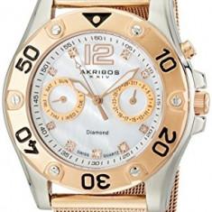 Akribos XXIV Women's AK553RG Diamond Multi-Function | 100% original, import SUA, 10 zile lucratoare af22508 - Ceas dama Akribos, Casual, Quartz, Analog
