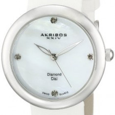 Akribos XXIV Women's AK687SS Impeccable Diamond | 100% original, import SUA, 10 zile lucratoare af22508 - Ceas dama Akribos, Casual, Analog