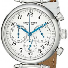 Akribos XXIV Women's AK630SSW Retro Silver-Tone | 100% original, import SUA, 10 zile lucratoare af22508 - Ceas dama Akribos, Casual, Analog