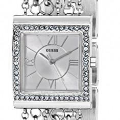 GUESS Women's U0140L1 Pearl Embellished Silver-Tone | 100% original, import SUA, 10 zile lucratoare af22508 - Ceas dama Guess, Analog