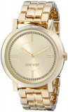 Nine West Women's NW 1642CHGB Gold-Tone | 100% original, import SUA, 10 zile lucratoare af22508, Casual, Quartz, Analog, Nine West