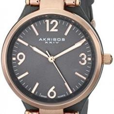 Akribos XXIV Women's AK761GY Impeccable Analog | 100% original, import SUA, 10 zile lucratoare af22508 - Ceas dama Akribos, Casual, Quartz