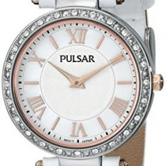 Pulsar Women's PM2127 Swarovski Crystal-Accented Watch | 100% original, import SUA, 10 zile lucratoare af22508 - Ceas dama Pulsar, Elegant, Quartz, Analog