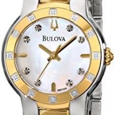 Bulova Women's 98R168 Diamond Case Watch   100% original, import SUA, 10 zile lucratoare af22508 - Ceas dama Bulova, Analog