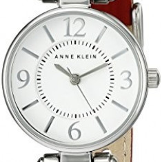 Anne Klein Women's 109443WTRD Silver-Tone White | 100% original, import SUA, 10 zile lucratoare af22508 - Ceas dama Anne Klein, Analog