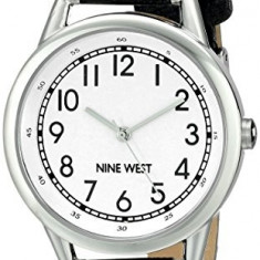 Nine West Women's NW 1699WTBK Easy | 100% original, import SUA, 10 zile lucratoare af22508 - Ceas dama Nine West, Analog