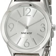 Nine West Women's NW 1663SVSB Silver-Tone | 100% original, import SUA, 10 zile lucratoare af22508 - Ceas dama Nine West, Casual, Quartz, Analog
