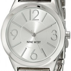 Nine West Women's NW 1663SVSB Silver-Tone | 100% original, import SUA, 10 zile lucratoare af22508 - Ceas dama Nine West, Analog