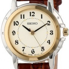 Seiko Women's SXGA02 Brown Leather Strap | 100% original, import SUA, 10 zile lucratoare af22508 - Ceas dama Seiko, Casual, Quartz, Analog