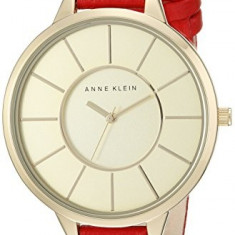 Anne Klein Women's AK 1500CHRD Slim | 100% original, import SUA, 10 zile lucratoare af22508 - Ceas dama Anne Klein, Elegant, Quartz, Analog