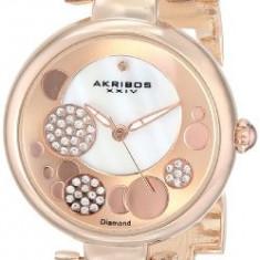 Akribos XXIV Women's AK678RG Lady Diamond | 100% original, import SUA, 10 zile lucratoare af22508 - Ceas dama Akribos, Analog