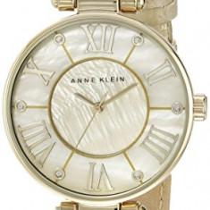 Anne Klein Women's AK 1012GMGD Leather | 100% original, import SUA, 10 zile lucratoare af22508 - Ceas dama Anne Klein, Elegant, Quartz, Analog