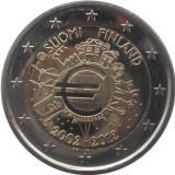 FINLANDA 2 euro comemorativa 2012 TYE-10 ani euro, UNC