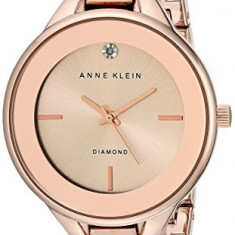 Anne Klein Women's AK 1410RGRG Diamond-Accented | 100% original, import SUA, 10 zile lucratoare af22508 - Ceas dama Anne Klein, Casual, Quartz, Analog