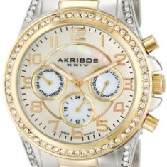 Akribos XXIV Women's AK683TTG Ultimate Two-Tone | 100% original, import SUA, 10 zile lucratoare af22508 - Ceas dama Akribos, Elegant, Quartz, Analog