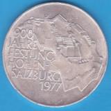 (2) MONEDA DIN ARGINT AUSTRIA - 100 SCHILLING 1977, HOHEN-SALZBURG, Europa