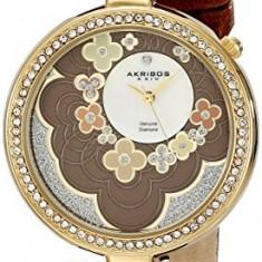 Akribos XXIV Women's AK601BR Lady Diamond | 100% original, import SUA, 10 zile lucratoare af22508 - Ceas dama Akribos, Casual, Quartz, Analog