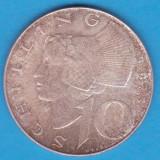 (3) MONEDA DIN ARGINT AUSTRIA - 10 SCHILLING 1973, 7, 5 GRAME, Europa