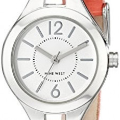Nine West Women's NW 1717SVCO Silver-Tone | 100% original, import SUA, 10 zile lucratoare af22508 - Ceas dama Nine West, Analog