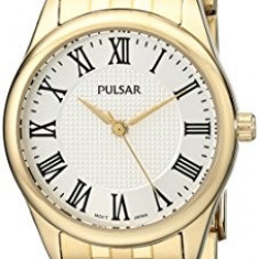 Pulsar Women's PG2016 Gold-Tone Watch | 100% original, import SUA, 10 zile lucratoare af22508 - Ceas dama Pulsar, Elegant, Quartz, Analog