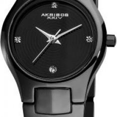 Akribos XXIV Women's AK581BK Ceramic Slim | 100% original, import SUA, 10 zile lucratoare af22508 - Ceas dama Akribos, Casual, Analog