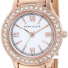 Anne Klein Women's AK 1492MPRG Swarovski | 100% original, import SUA, 10 zile lucratoare af22508 - Ceas dama Anne Klein, Elegant, Quartz, Analog