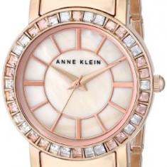 Anne Klein Women's AK 1670PMRG Swarovski   100% original, import SUA, 10 zile lucratoare af22508 - Ceas dama Anne Klein, Elegant, Quartz, Otel, Inox, Analog