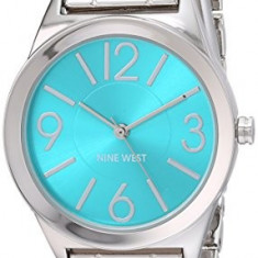 Nine West Women's NW 1663TQSB Turquoise | 100% original, import SUA, 10 zile lucratoare af22508 - Ceas dama Nine West, Analog