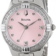 Bulova Women's 96R171 Diamond-Set Case Watch | 100% original, import SUA, 10 zile lucratoare af22508 - Ceas dama Bulova, Analog